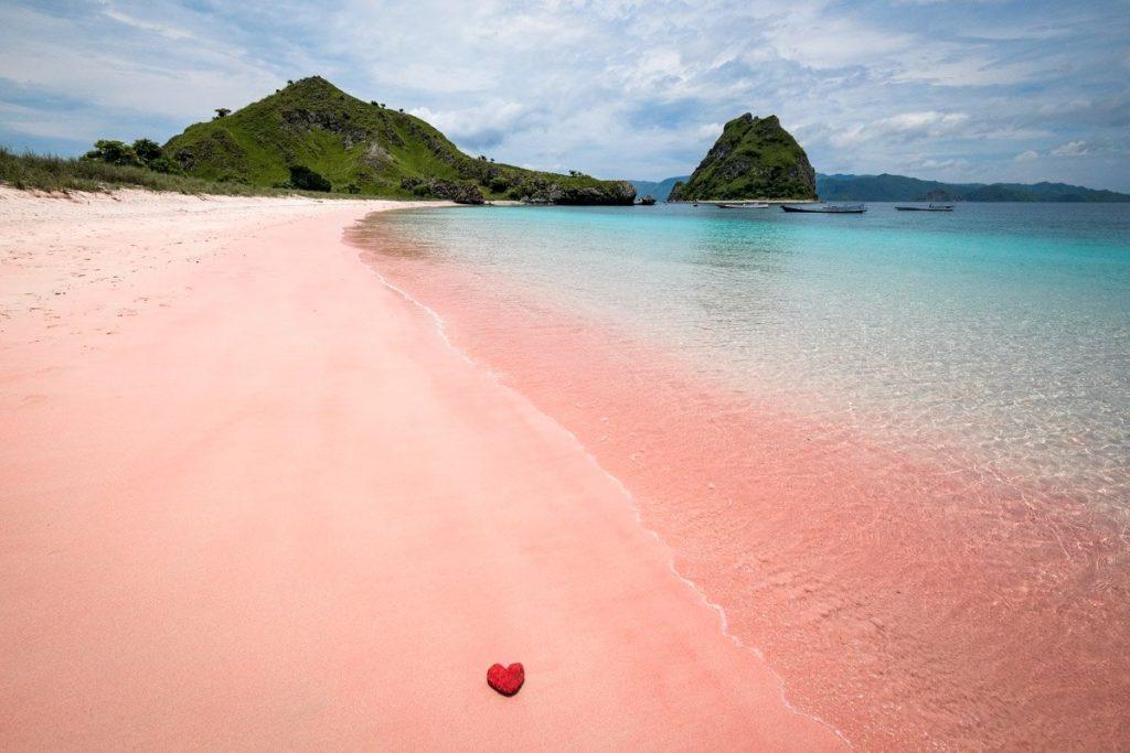 komodo boat trip - pink beach